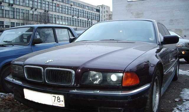 Worksheet. BMW 7 series 730i 1995 Technical specifications  Interior and