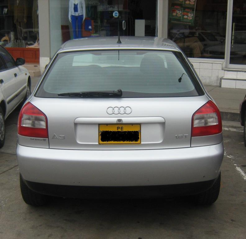 Audi A3 1.8T 2001 Technical Specifications