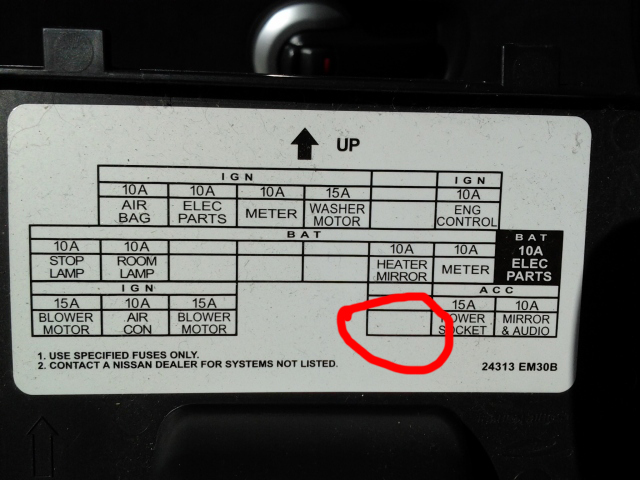 Nissan Versa Note Fuse Box