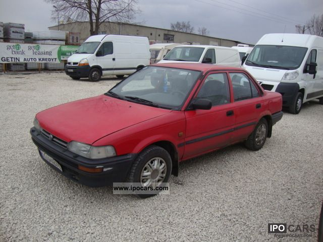 Toyota Corolla 1.3 1991 photo - 8