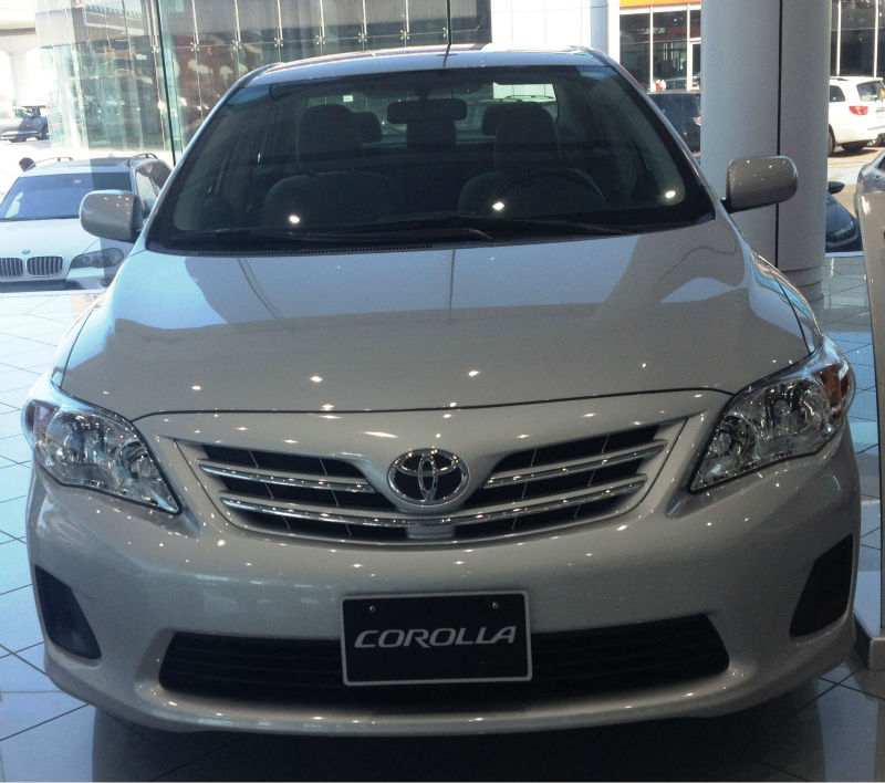 Lease A Toyota Corolla: Toyota Corolla 1.6 2013 Technical Specifications