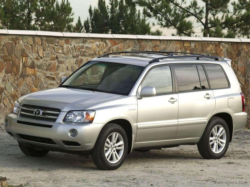 Toyota Highlander 2 4 2005 Technical Specifications